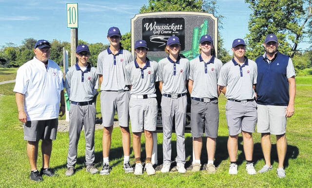 The Galion High School boys golf team won its fifth consecutive Division II sectional championship on Thursday, Sept. 30, 2021. The Tigers edged Shelby 324-329 to claim the tournament title at Woussickett Golf Course in Sandusky.