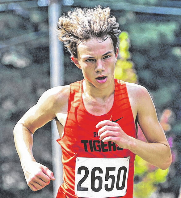 Galion's Chad Taylor set a new personal record time at the Galion Cross Country Festival on Saturday, Sept. 18, 2021, at Amann Reservoir. He completed the course in 17:33.3 and finished 17th in the individual standings.