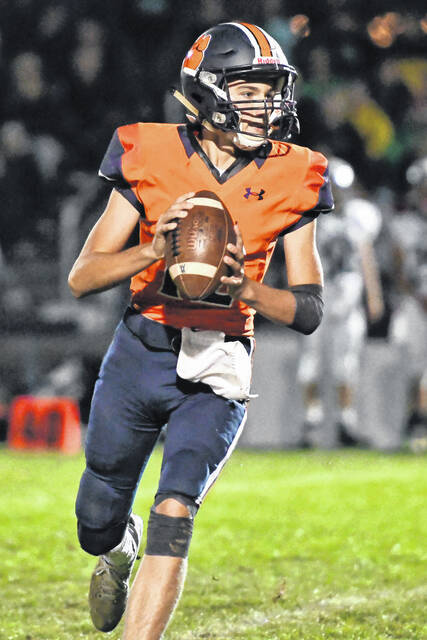 Galion quarterback Cooper Kent completed 16-of-36 passes for 354 yards and 3 touchdowns in the Tigers 36-21 loss to Clear Fork on Friday, Sept. 24, 2021, at Unckrich Stadium. It was Kent's best performance of the season.