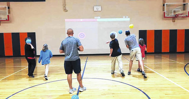 The Galion Primary School and Galion Intermediate School opened their doors for families to get a first-hand experience of what their students are working on during the buildings' annual open house on Aug. 31, including the new Lu Interactive Playground in the Intermediate School gymnasium.