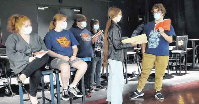 """Galion students are busy with rehearsals as they prepare to return to the stage for the Galion High School Performing Arts Department's production of """"The Alibis"""" on Oct. 16-17."""