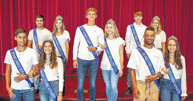 The 2021 Galion High School Homecoming King and Queen will be crowned prior to the kick-off of the Tigers' Homecoming game against Lima Central Catholic on Friday, Oct. 15. Sam Albert (middle), Hanif Donaldson (front right), Kyle Foust (back right), Walker Frankhouse (front left), and Sam Wegesin (back left) will vie for the title of Homecoming King, while Ady Monk (middle), Ashlee Oris (front right), Ava Smith (back right), Zaynah Tate (front left), and Melanie Wheeler (back left) are candidates for 2021 Homecoming Queen.