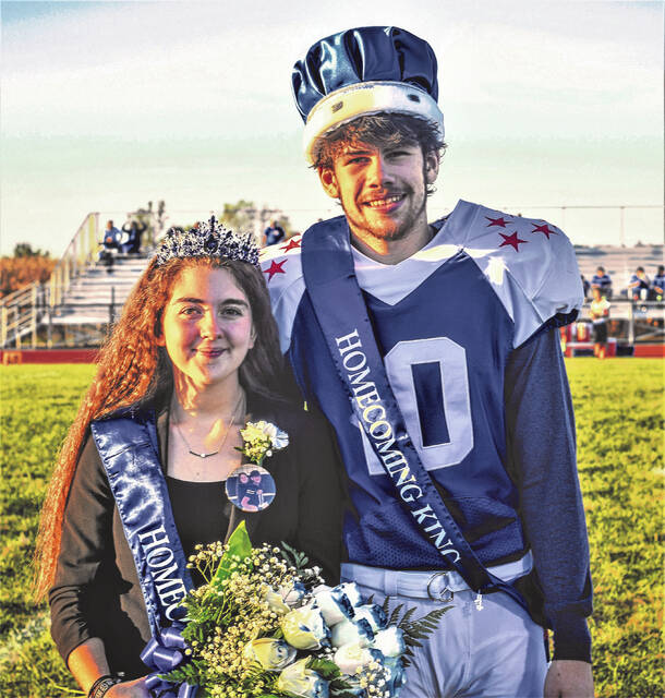 Crestline High School crowned homecoming royalty for the 2021-2022 school year during ceremonies held Friday, Oct. 1, 2021, at Hutson Stadium. Emma Kirby was crowned queen and Conner Lusk was crowned king.