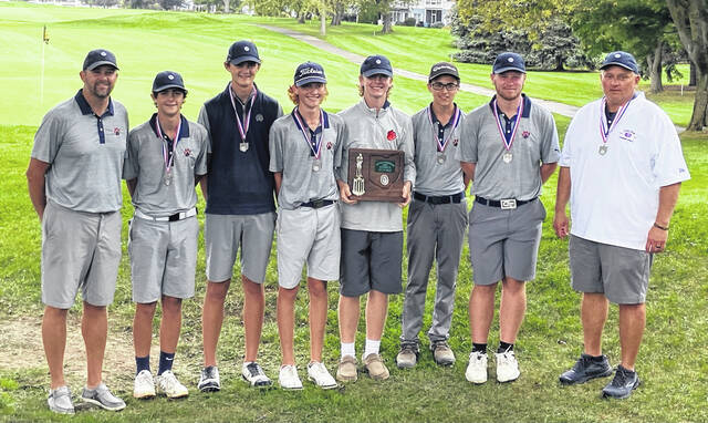 The Galion High School boys golf team qualified for its fifth consecutive trip to the OHSAA Division II state tournament after finishing runnerup to Bryan at the district tournament on Thursday, Oct. 7, 2021, at the Catawba Island Club in Port Clinton. The state tournament is scheduled for Oct. 15-16 at NorthStar Golf Club in Sunbury.