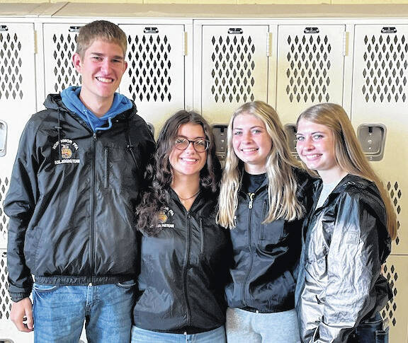 After a dominating win at their District 2 contest, the Northmor FFA Ag Soil Judging Team continued their winning ways by winning the State FFA Ag Soil Judging Contest Oct. 9. Jed Adams placed 1st, Lauren Johnson placed 2nd, Kylee Bilancini 4th, and Riley Johnson placed 9th individually. The team will travel to Oklahoma in May to compete at the national contest.