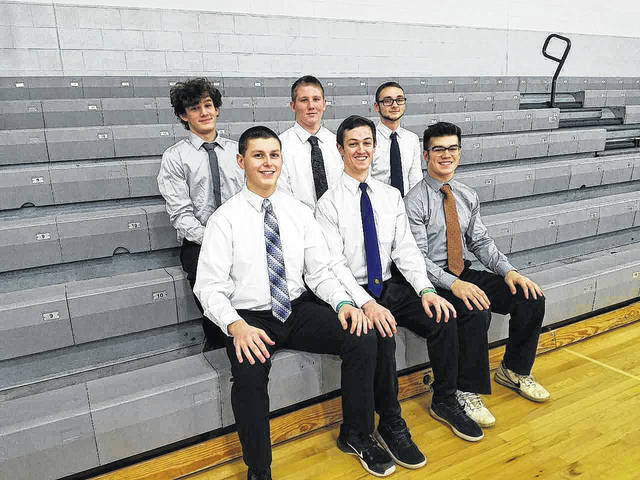 These dressed up, smiling gentlemen have been nominated to be on the King of Hearts Court at Clear Fork High School. They are, in front: Tanner Winnand, Mason Cox and Thomas Staab. Those three are seniors. In the back we have Brandon Patterson, Bruce Swainhart and Nash Bilbee. They are in freshman through junior grades. Louise Swartzwalder | Bellville Star