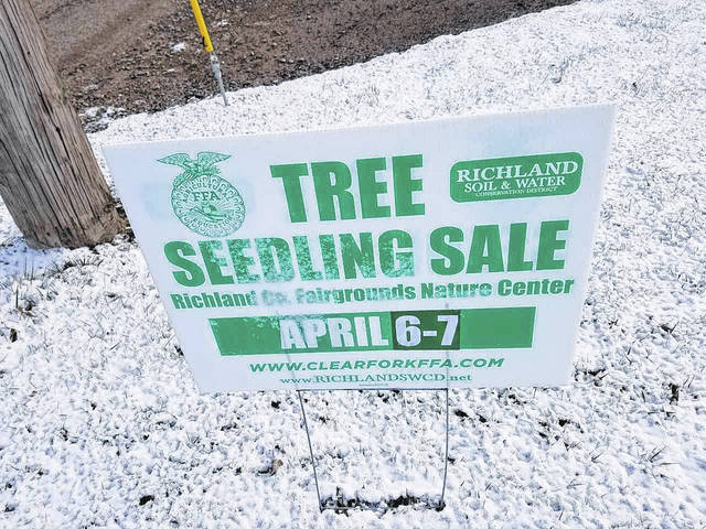 This sign is one of may posted around the area. This is for the upcoming seedling sale, conducted by the Future Farmers of America at Clear Fork. Louise Swartzwalder | Bellville Star