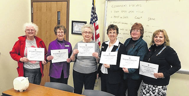 Courtesy photo These DAR members received certificates at a recent meeting. They are, from left: Missy Derrenberger, Joan Wyatt, Shelia Larson, Pat Jennings, Pat James-Hasser and Joyce Vanatter.