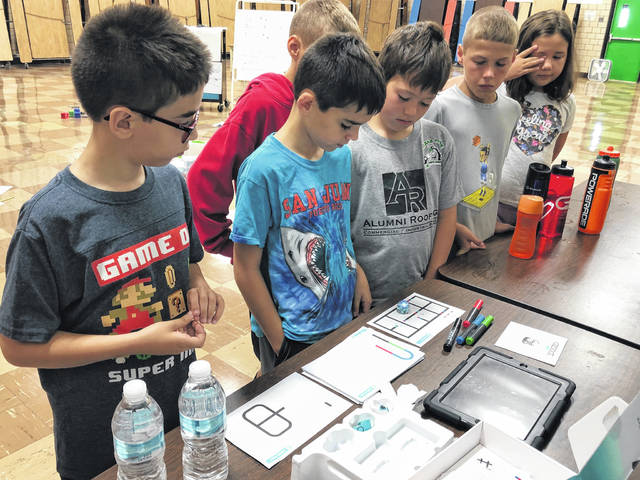 Courtesy photo  Students at Bellville Elementary School recently took part in a robotics camp, in which they made how-to videos for other students to use once school starts.