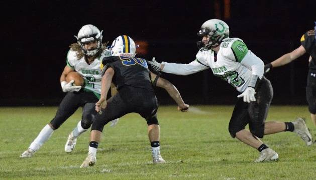 Trevon Trammell runs for yardage Friday night. He accounted for 5 Clear Fork touchdowns in the 54-14 win at Ontario.
