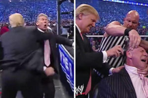 Column: The president, the press and pro wrestling