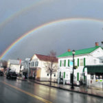 Double rainbow over Bellville on Tuesday; Snow possible this weekend