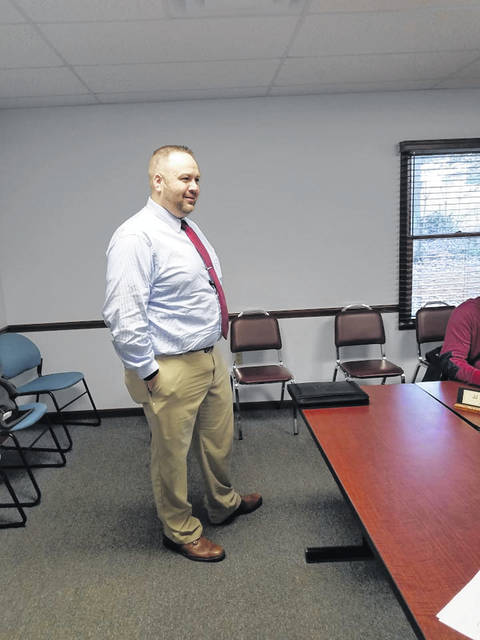 Photo by Louise Swartzwalder Robert Evans told Bellville Village Council members at this week's meeting that he would be willing to fill the council's vacant seat.