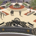 Updated design for Veterans Memorial Plaza shown to Delaware City Council