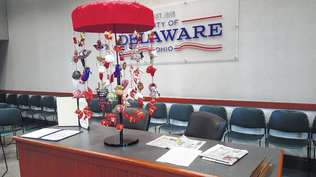 These are some of the items received from a Delaware delegation's April visit to Sakata, Japan. Delaware has sister city relationships with Baumholder, Germany and Sakata.