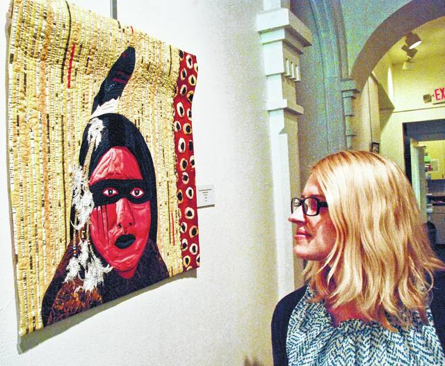 The Arts Castle in Delaware currently is exhibiting quilts that are unique pieces of fabric art created by local artists. Kati Henning takes a more detailed look at a Native American piece hanging in the hall on the main floor.