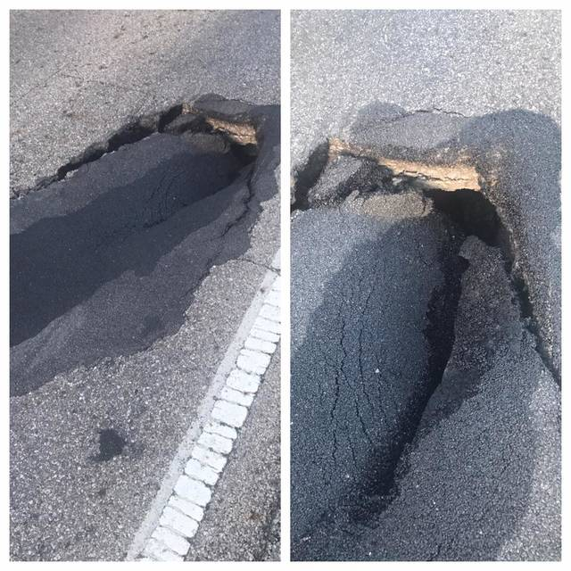 A sinkhole has caused the closure of a small portion of East Powell Road in Orange Township.