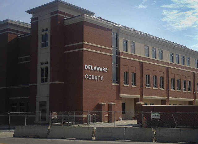 A finishing touch has been added to the Sandusky Street side of the new county courthouse. The words Delaware County appear in bright white bold letters. Construction of the new facility is scheduled for completion Aug. 31. The Delaware County courts, Clerk of Courts, and other offices will begin moving into the $39.3 million building shortly after construction is finished.