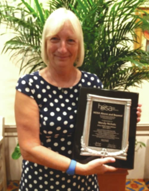 Delaware resident Wendy Kibler Nichols received the National Above and Beyond Award at the HOSA International Leadership Conference held in Orlando, Florida in June.