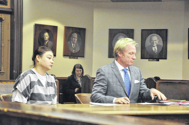 Alana Hissong appeared in Delaware County Common Pleas Court on Wednesday morning with her attorney Dominic Mango.