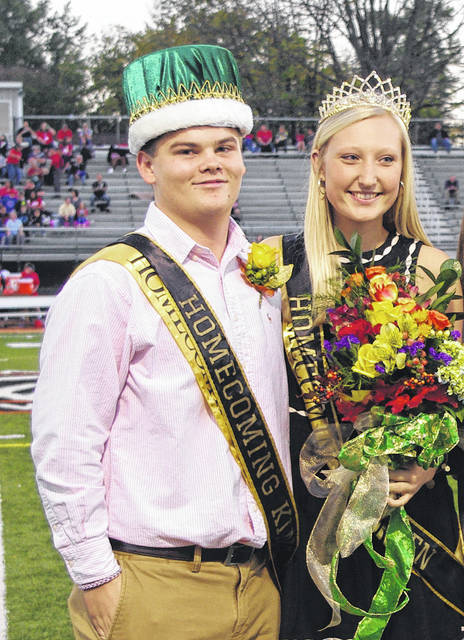 Levi Jones and Audrey Hannahs after being crowned Homecoming King and Queen on Oct. 13.