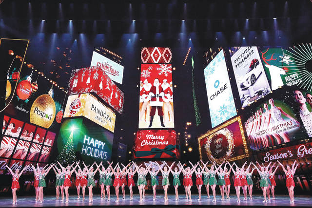 """This Nov. 7, 2017 photo released by Madison Square Garden shows the dress rehearsal for the """"Radio City Christmas Spectacular,"""" currently performing through Jan. 1 at Radio City Music Hall in New York."""