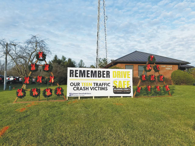 The SAFE Delaware County Coalition will dedicate its annual traffic crash memorial to the 20 teens that have died in the county during the last 10 years. The ceremony is scheduled for 10 a.m. on Wednesday, Dec. 6. Twenty wreaths will be displayed in front of the Ohio State Highway Patrol Delaware County Post #21, 1500 Columbus Pike, Delaware.