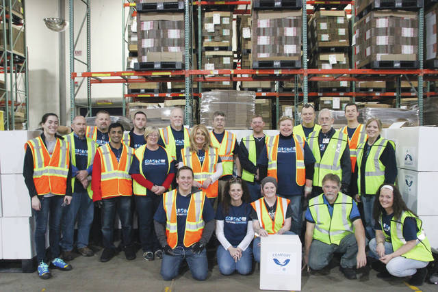 Domtar Corporation employee volunteers from the company's personal care manufacturing facility in Delaware recently assembled and delivered 1,500 baby care packages to local non-profit organizations in the community.