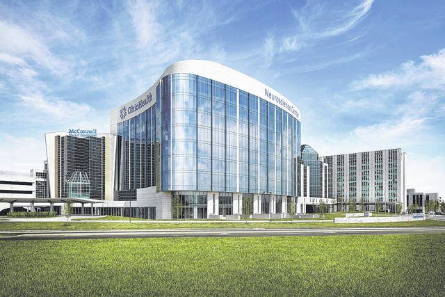 Pictured is the OhioHealth Neuroscience Center located on the Riverside Methodist Hospital campus in Columbus. OhioHealth recently announced plans to open a neuroscience wellness center in the coming years near the campus.