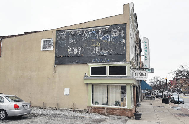 Spearheaded by the Ohio Wesleyan University's Richard M. Ross Art Musuem, a project is in the works to tranform blank canvases like the side of the Olivina Taproom building in downtown Delaware, pictured, into works of art.