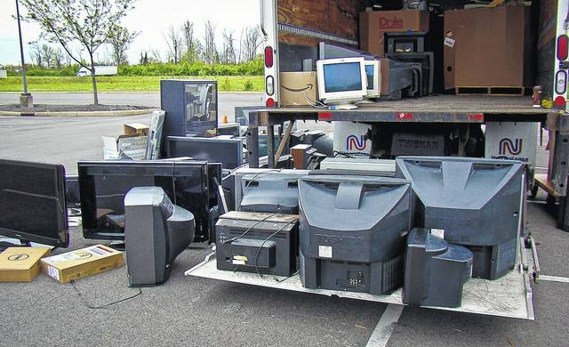 During Orange Township's 2017 Earth Day event, the 24,000 pounds of discarded electronics collected by township officials, dropped off by residents, was estimated to have filled one-and-a-half semi-truck trailers. The second annual Earth Day event is scheduled for Saturday, April 21 at Home Depot on Owenfield Drive.