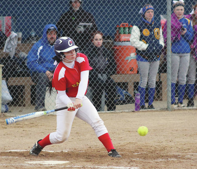 Big Walnut's Meredith Thomas takes a cut during Friday's non-league showdown against host Olentangy.