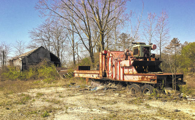 The old junkyard still has a few leftover pieces of junk scattered around the 24 acres, including the car crusher that stands in the middle of the property. On May 8, the voters of Berlin Township will decide whether or not to overturn a rezoning measure approved by trustees Oct. 9, allowing the property to be zoned Planned Industrial. If the zoning stands, the proposed use of the property is an industrial park/concrete plant.