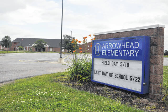 The Olentangy Local School District Board of Education voted last week to add additional classroom space to three elementary schools. A six-classroom addition will be added to Arrowhead, Alum Creek and Wyandot Run elementary schools. Pictured is Arrowhead Elementary, located at 2385 Hollenback Road, Lewis Center.