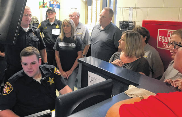 Participants in the 2017 Citizens Sheriff Academy tour the Delaware County Jail and learn about how corrections officers do their jobs.
