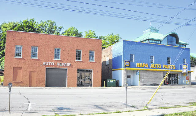 The Delaware Historic Preservation Commission informally reviewed Wednesday a proposal by Indus Hotels to demolish and construct a hotel at 7 and 27 Spring St., which is zoned B-3 Community Business District. Pictured is the proposed site of the hotel.