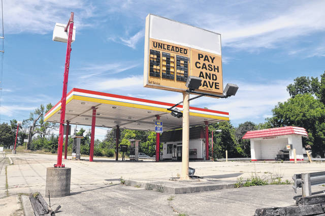 Pictured is the vacant Swifty Gas station located at 473 S. Sandusky St. in Delaware. Pending City Council's approval, the property will be transformed into a new Marathon station.