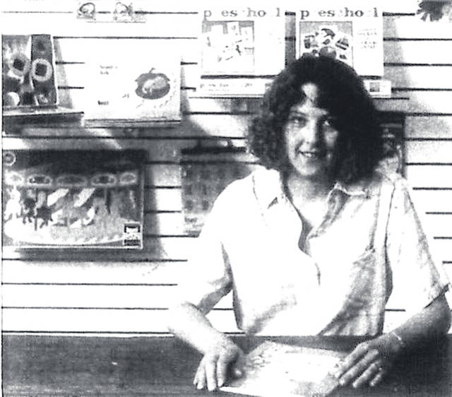 Tami Furlong, Fundamentals owner, poses for a photo in July 1988, just days before the store opened at 26 W. Winter St. in downtown Delaware.