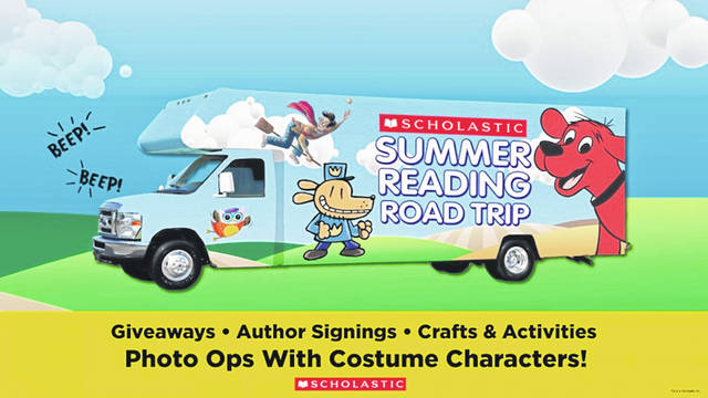 The Scholastic Summer Reading Road Trip RV will be stopping at Fundamentals in downtown Delaware from 2 to 4 p.m. on Sunday, July 22.