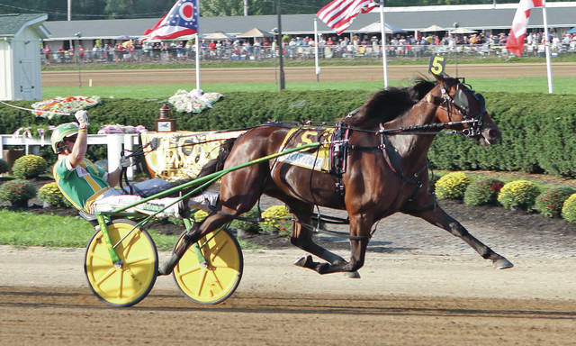 Alexa's Power and Tim Tetrick win the $230,700 Jugette Wednesday at the Delaware County Fair