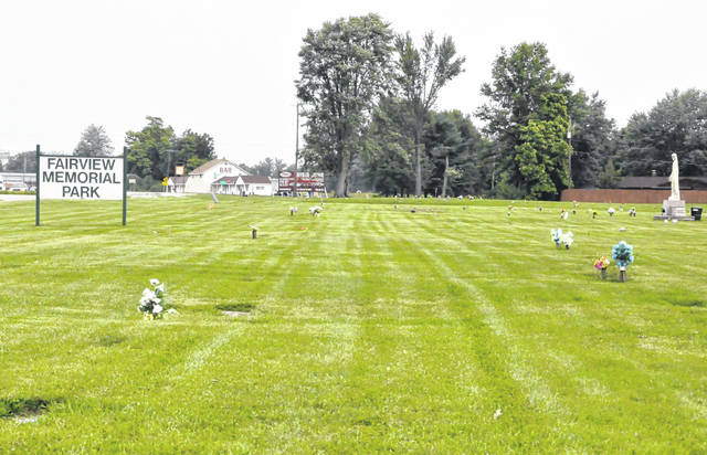 Pictured is Fairview Memorial Park located at 5035 Columbus Pike, Lewis Center.