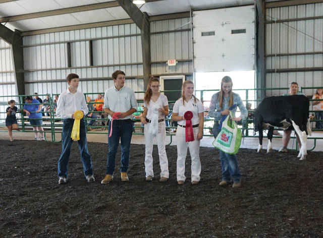 The top five in the Showman of Showmen Contest.