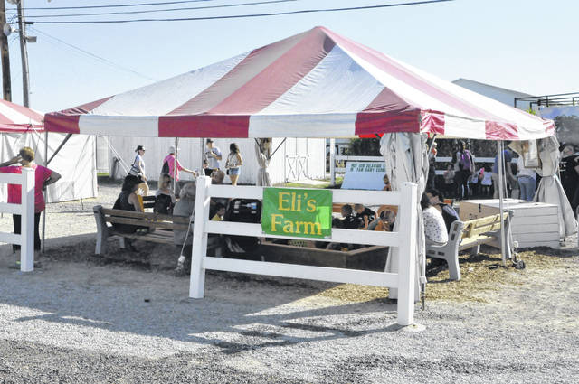 Pictured is Eli's Farm, which the Lehner family sets up every year at the Delaware County Fair in honor of Eli Lehner, who passed away in 1997. The tent is located just outside the Dairy Barn at the Delaware County Fairgrounds.