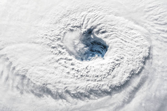 """Ever stared down the gaping eye of a category 4 hurricane? It's chilling, even from space,"" said European Space Agency Astronaut Alexander Gerst, who is currently living and working aboard the International Space Station as a member of the Expedition 56 crew."