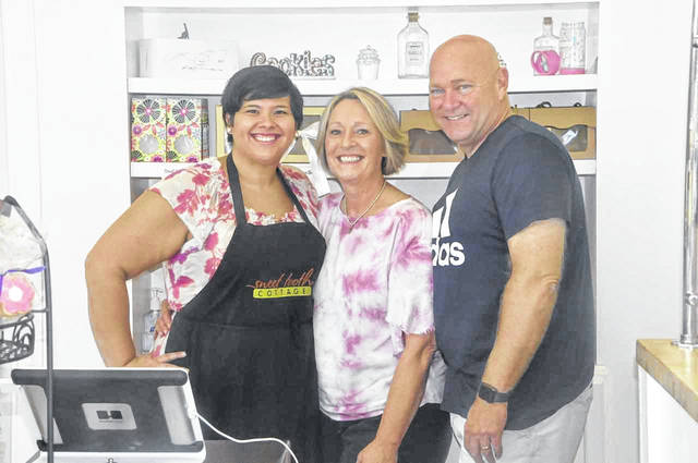 Pictured left to right are Nicole Forsythe, Sue Bissonnette and Steven Bissonnette. The trio represent the leadership of Sweet Tooth Cottage in Powell.