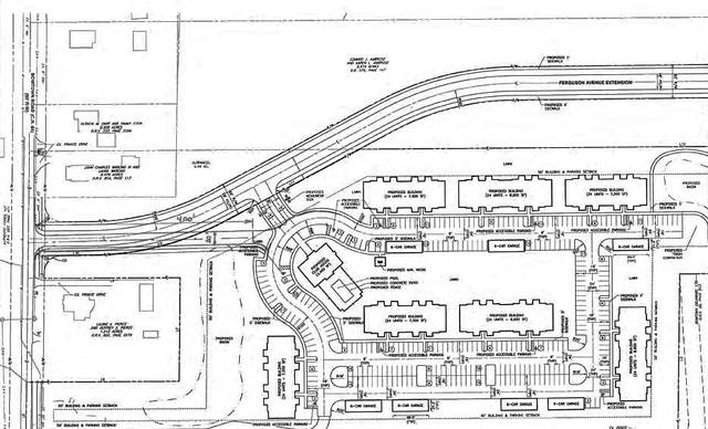 Pictured is a site layout plan for Highpoint Place Apartments. The complex, which would have been built off Bowtown Road (shown to the left in the plan) in Delaware, was voted down Monday by Delaware City Council.