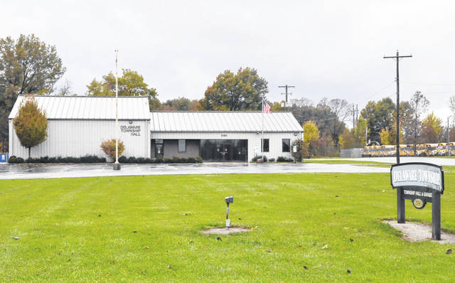 Pictured is the Delaware Township Hall at 2590 Liberty Road in Delaware.