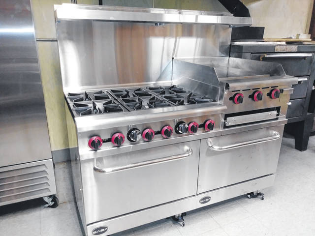 Pictured is the new commercial stove recently installed at the AMVETS Post 102/American Legion Post 115 veterans facility located at 485 Park Ave. in Delaware.