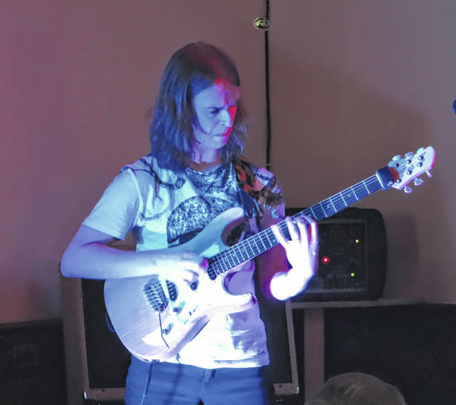 UK guitarist Paul Bielatowicz performs at Blend of Seven Winery in 2015. Bielatowicz will be providing live soundtracks to silent films on Dec. 10 at Blend of Seven in Delaware.