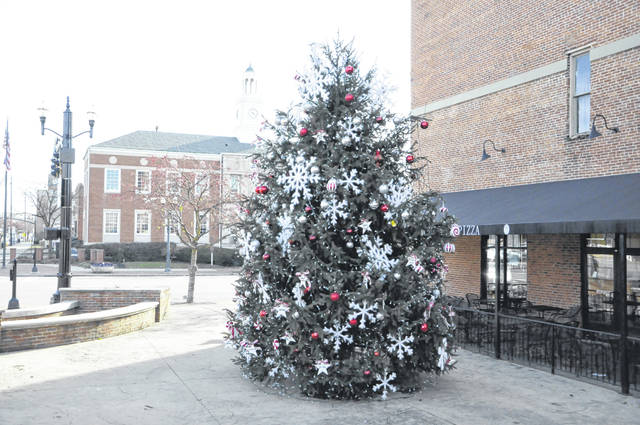 The Christmas tree at the southwest corner of West William and South Sandusky streets in downtown Delaware will be lit during a ceremony scheduled to take place at 6:30 p.m. on Friday, Nov. 30.
